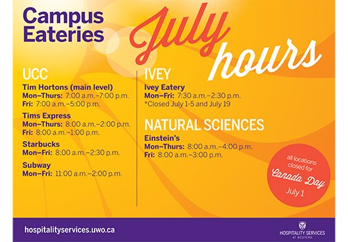 July Summer Hours