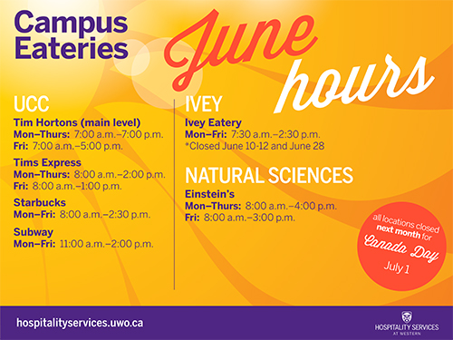 June Summer Hours