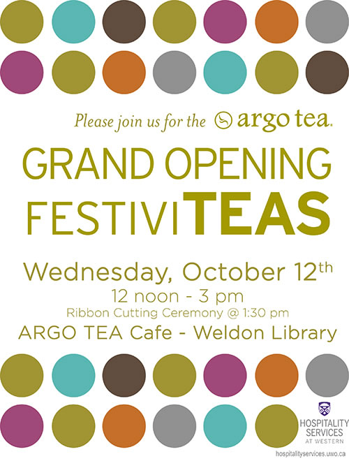Argo Tea Grand Opening Celebration